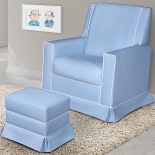 poltronas de amamentao pelmex balano baby com puff azul a poltrona ideal para