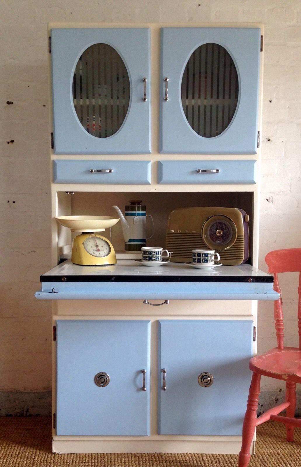 Vintage Retro 50s 60s Kitchen Cabinet Cupboard Larder Kitchenette Mid Century Cabinet Cupboard 60s Kitchen Kitchen Cabinets