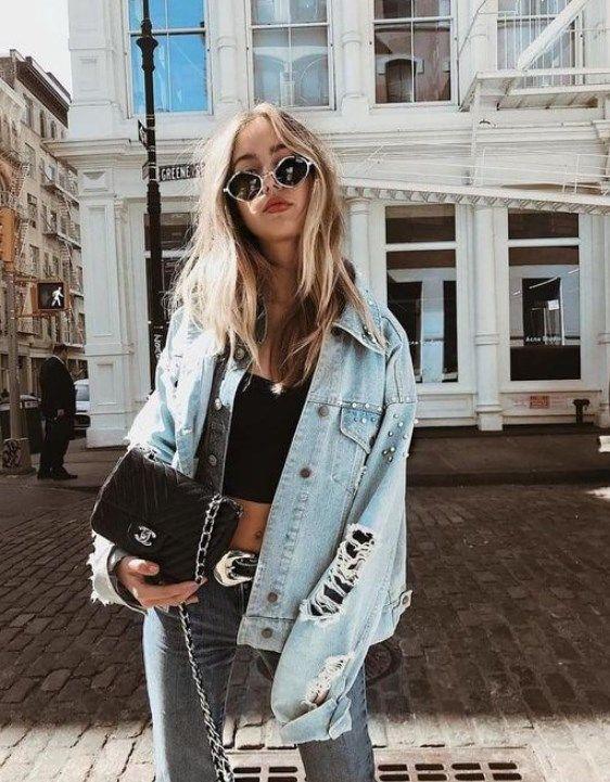 Kot Ceket Kombinleri 2019 Oversizeddenimjacket Denimjacket Fashion Denimtrends Denim 2019denims Springfashion Kot Ceket Moda Kiyafetler Sonbahar Stili