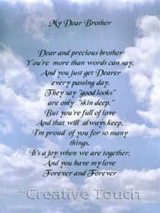 Dear Brother In Heaven Poem Poem Personalized Print My Dear Brother Ebay Heaven Quotes Brother Birthday Quotes Brother Quotes