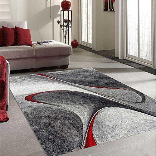 Unamourdetapis - Tapis MADILA Tapis de salon Moderne design rouge 60