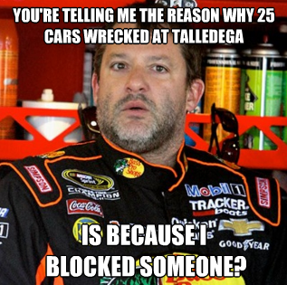 Tony Stewart Returns To Talladega Nascar Owies