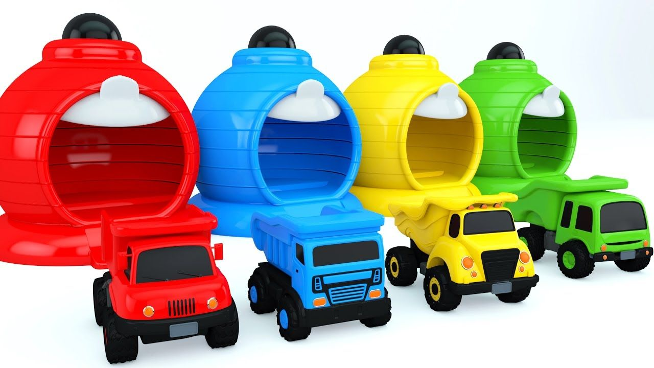 Learn Colors With Color Dump Truck Toys Colors
