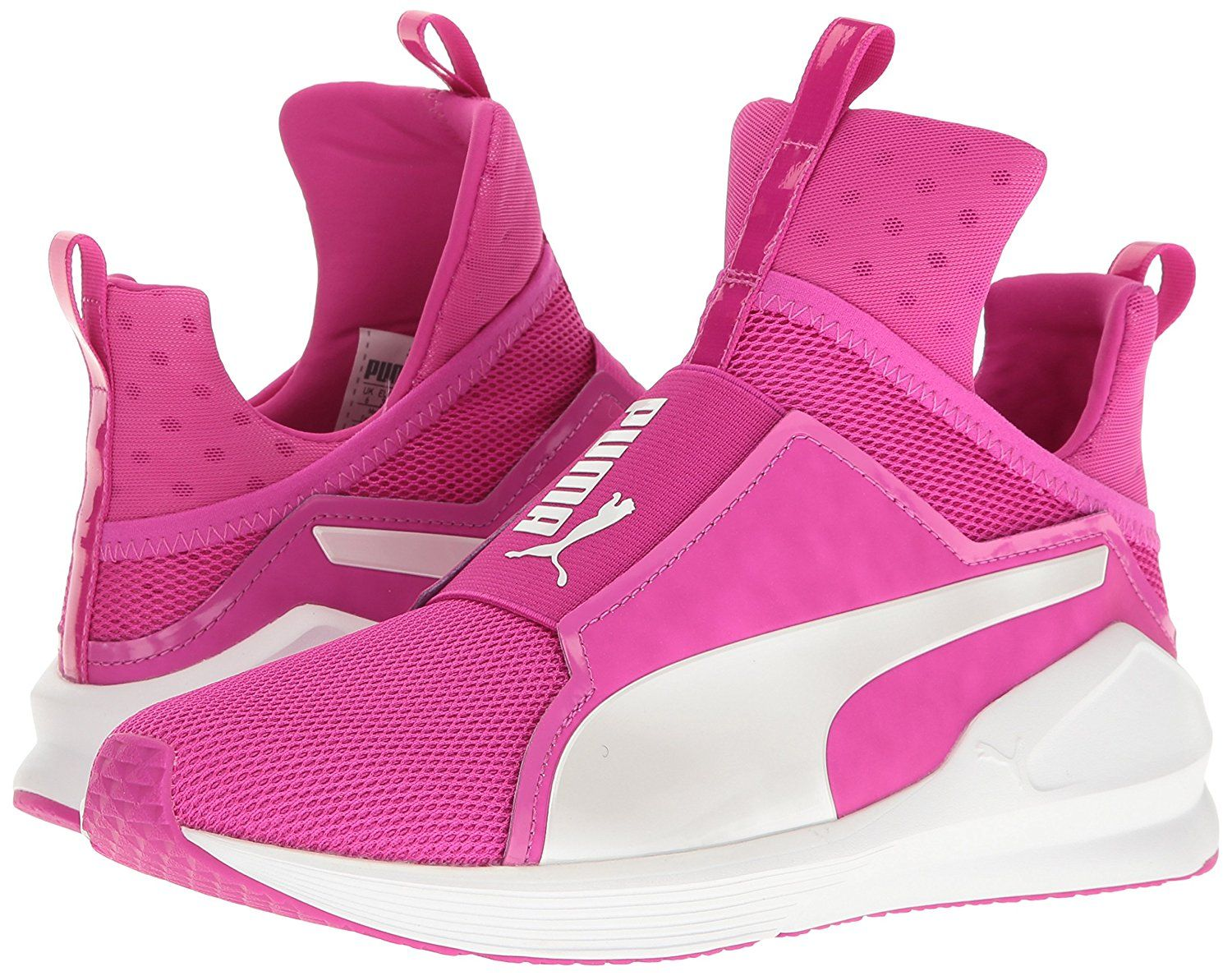 6c3117907dcd PUMA Women s Fierce Core Cross-Trainer Shoe Puma Fierce Core is a Lace-less  high-top cross-trainer with breathable mesh insets and goring across the  top for ...