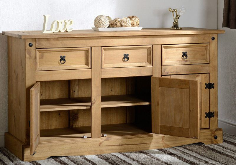 Antique Wood Sideboard Premium Large Wooden Storage Cabinet