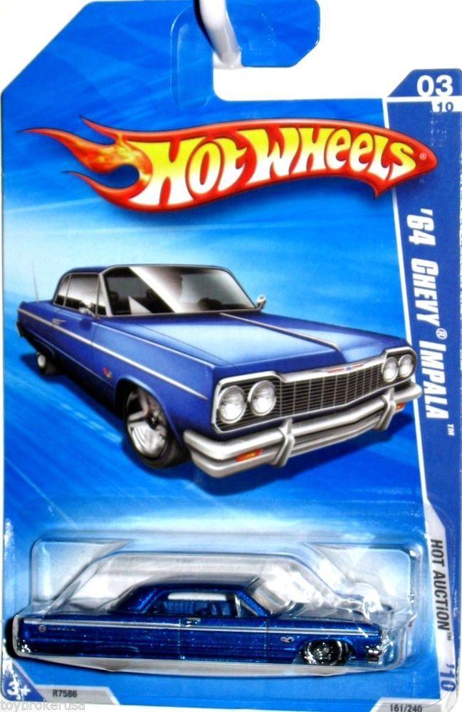 1964 Chevy Impala Hot Wheels 2010 Hot Auction 161 240 Blue Hot