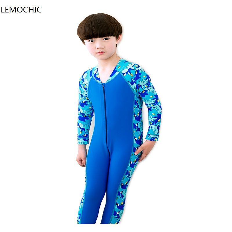 4370a34c2 LEMOCHIC swimming dress Kids boys girls snorkeling clothing children's sun  protection clothing child diving suit wetsuits