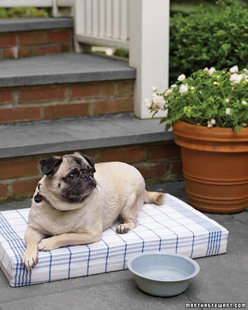 Simple Pet Pillow Diy Pet Bed Animal Pillows Diy Dog Bed