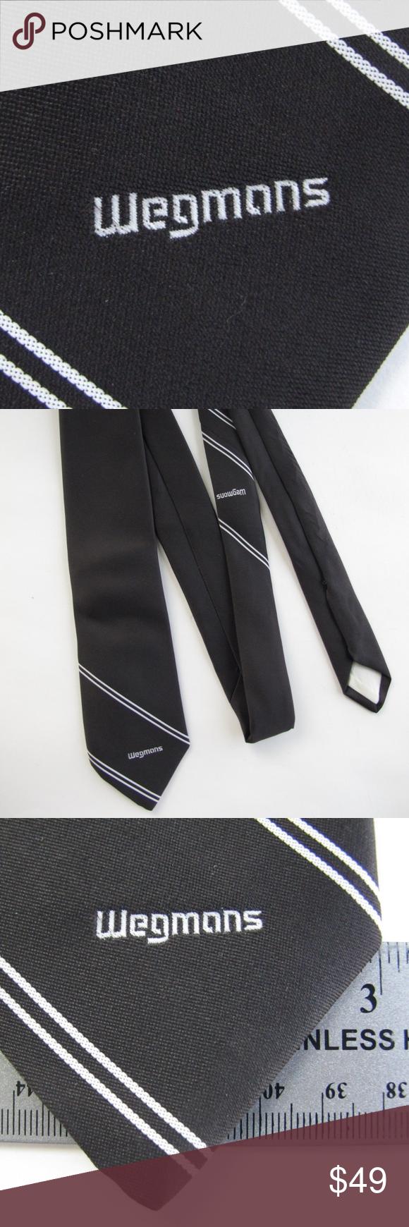 Rare Collectible Vintage Wegmans Brown Retro Tie Very Rare Old Danny