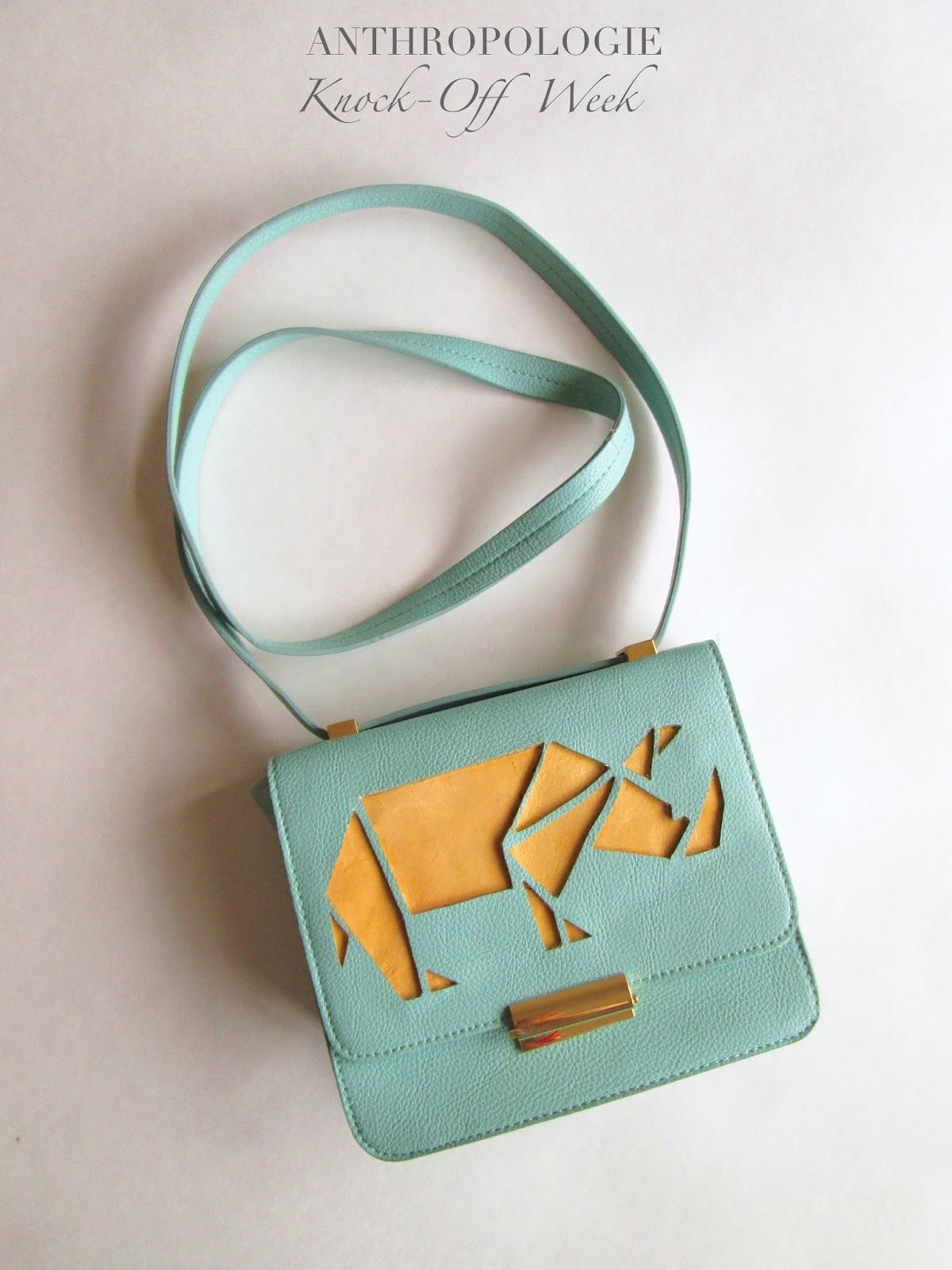 DIY Anthropologie Inspired Knock-off Crossbody Bag use a hippo instead