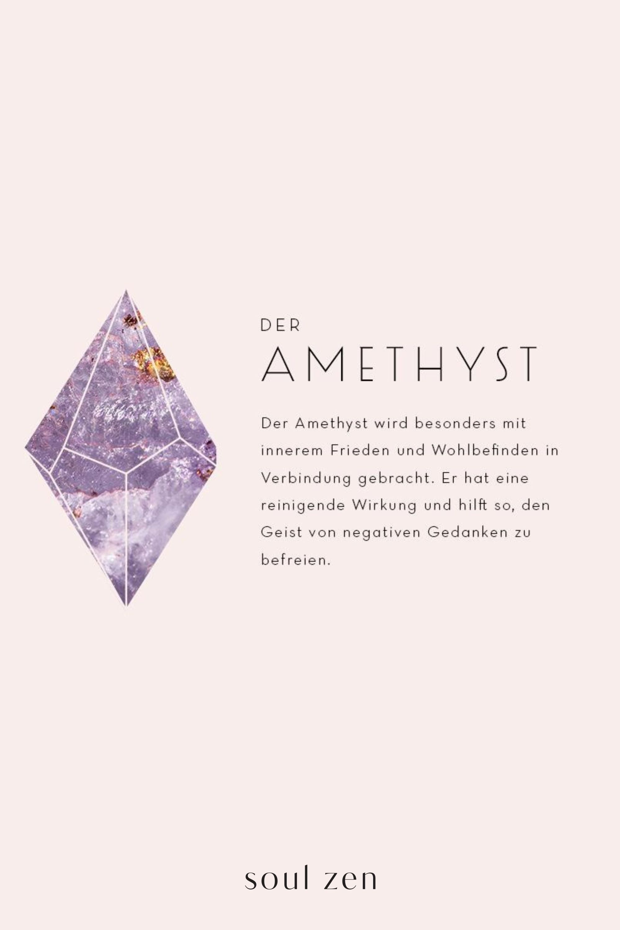 Photo of AMETHYST The amethyst is especially used with inner peace and well-being in …