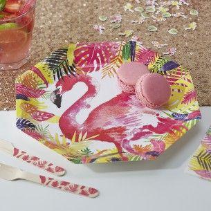 Flamingo Fun Paper Plates - Flamingo Fun - Party Themes A-Z - Kidsu0027 Party & Flamingo Fun Paper Plates - Flamingo Fun - Party Themes A-Z - Kids ...