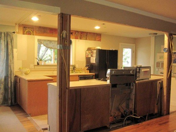 Opening Up A Galley Kitchen Open Kitchen And Living Room Galley Kitchen Remodel Wall Stove