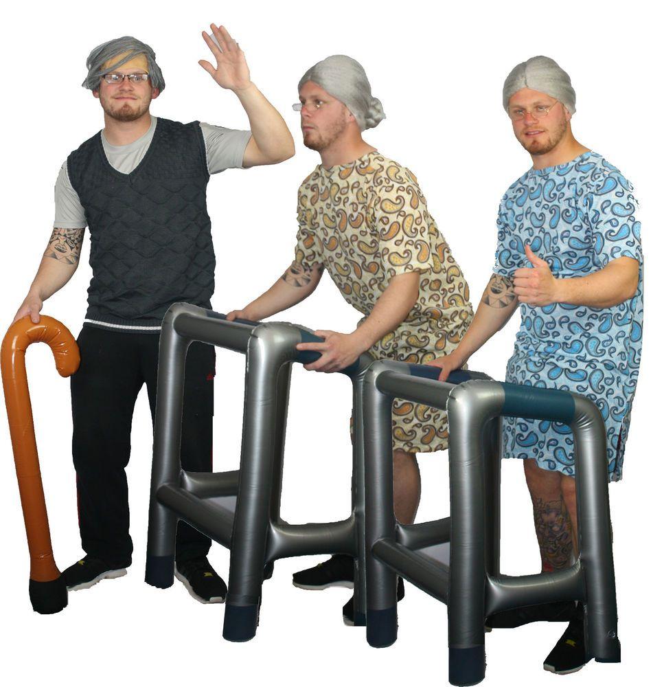 9d8abd96f5 Old Man   Lady Costume OAP Granny Grandad Fancy Dress Pensioner Stag Party