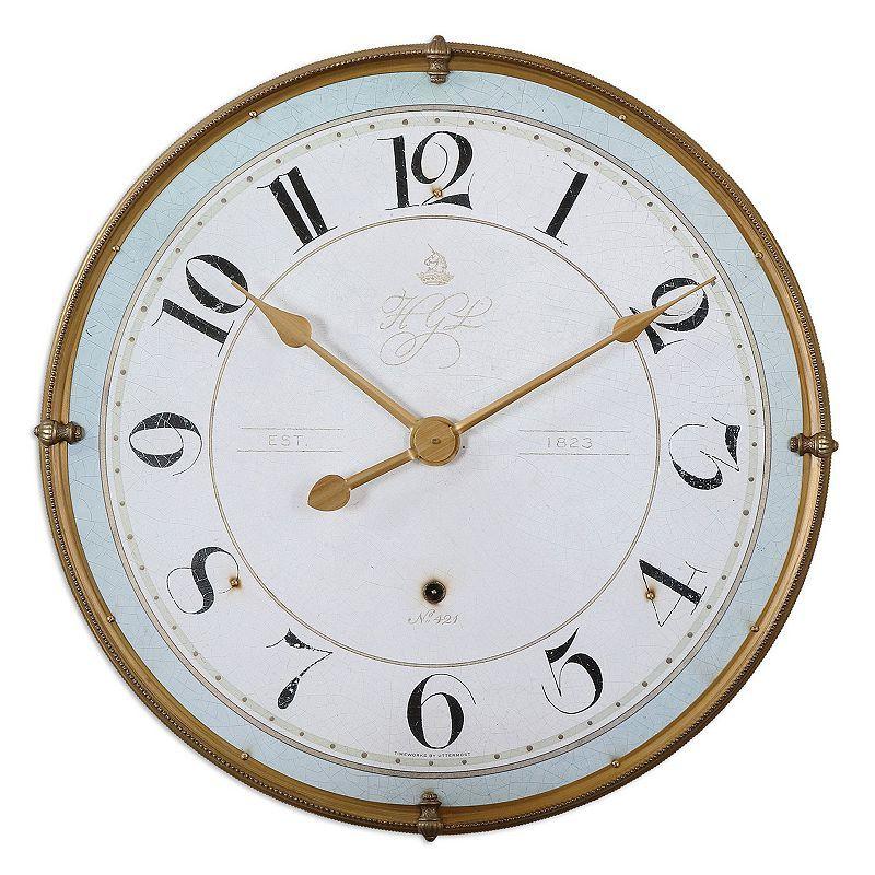 Uttermost Torriana Wall Clock Gold Wall Clock Wall Clock Round Wall Clocks