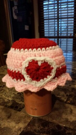 Heart hat to go with the heart  Baby blanket