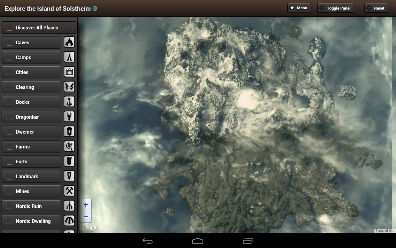 Skyrim Map HD Android Apps on Google Play Skyrim map