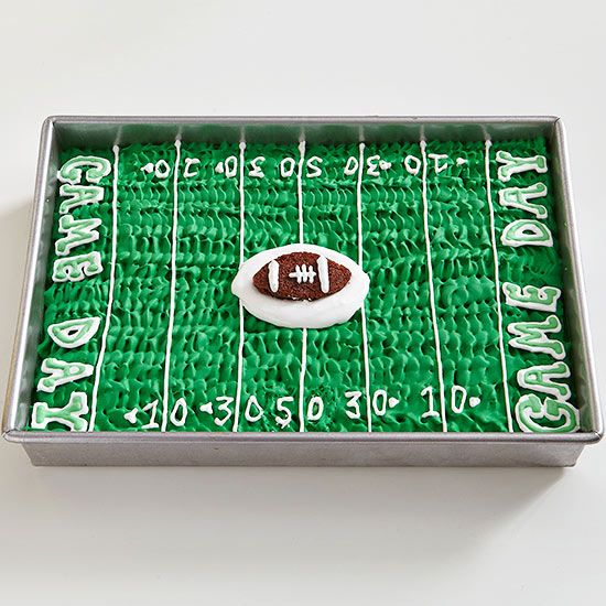 Frosted Football Cake