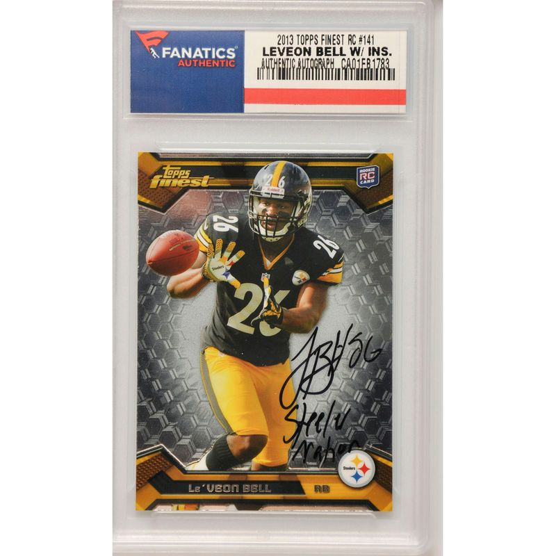 Le Veon Bell Pittsburgh Steelers Fanatics Authentic Autographed 2013 Topps  Finest Rookie  141 Card 504594e96