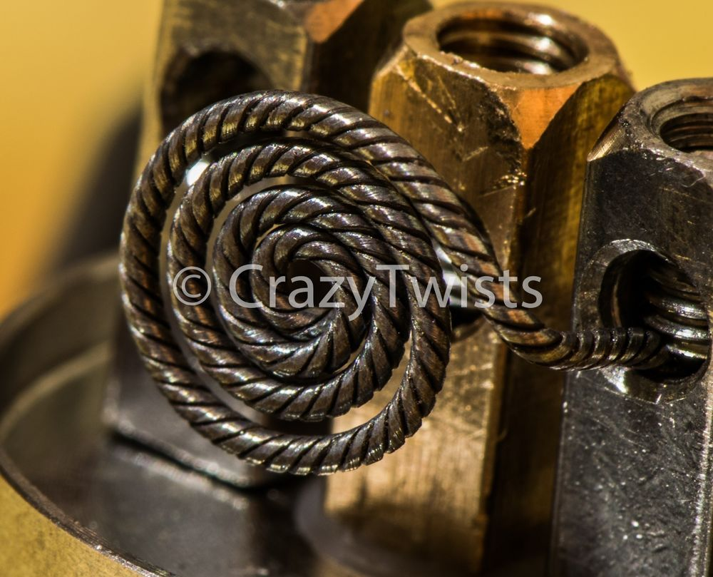 2 spiral stove top coil 28 gauge x 4 strand. (clapton coil ...