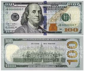 New $100 bills finally hit the street (Photo: U.S. Treasury Department / Reuters)