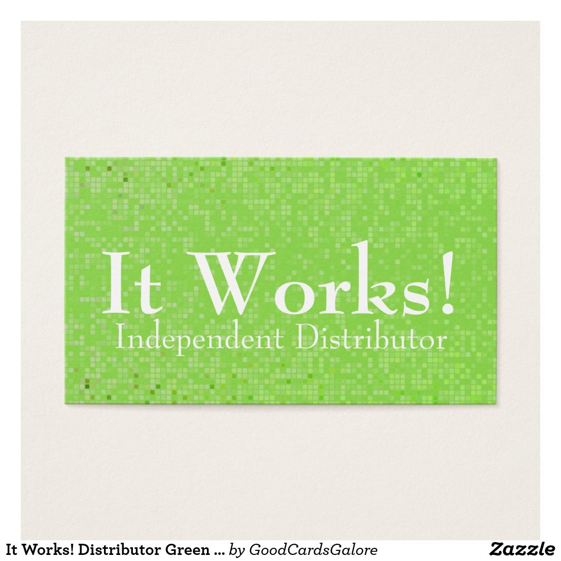 Distributor Green Pattern Business Cards