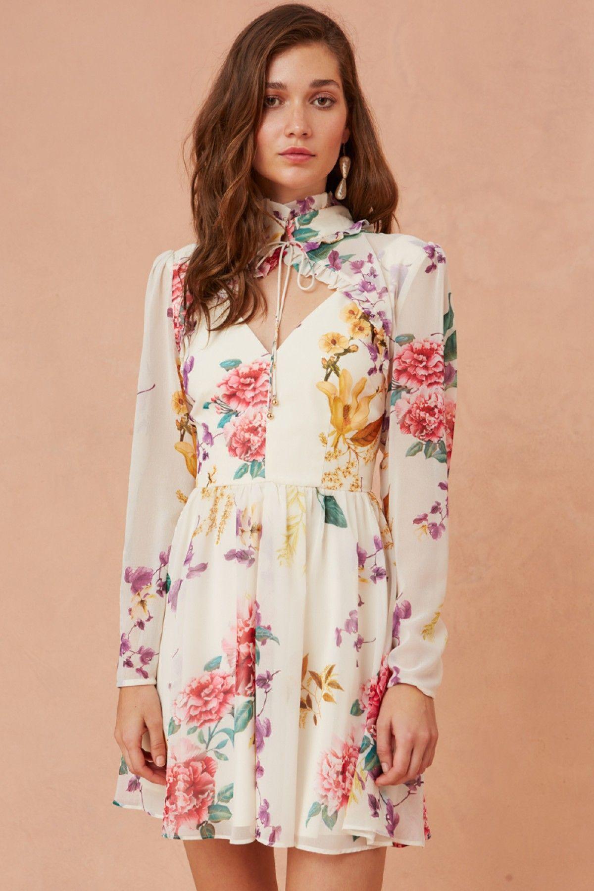 About Us Long Sleeve Mini Dress Creme Botanic Floral Keepsake Bnkr Long Sleeve Chiffon Dress Chiffon Long Sleeve Short Mini Dress [ 1800 x 1200 Pixel ]