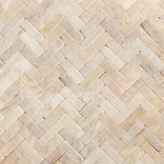 Honey Onyx Tumbled Herringbone Natural Stone Mosaic Contemporary Kitchen Tile Chicago City Bath Design Center