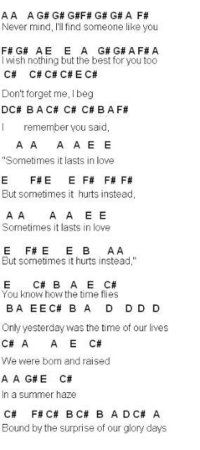 Flute Sheet Music Someone Like You