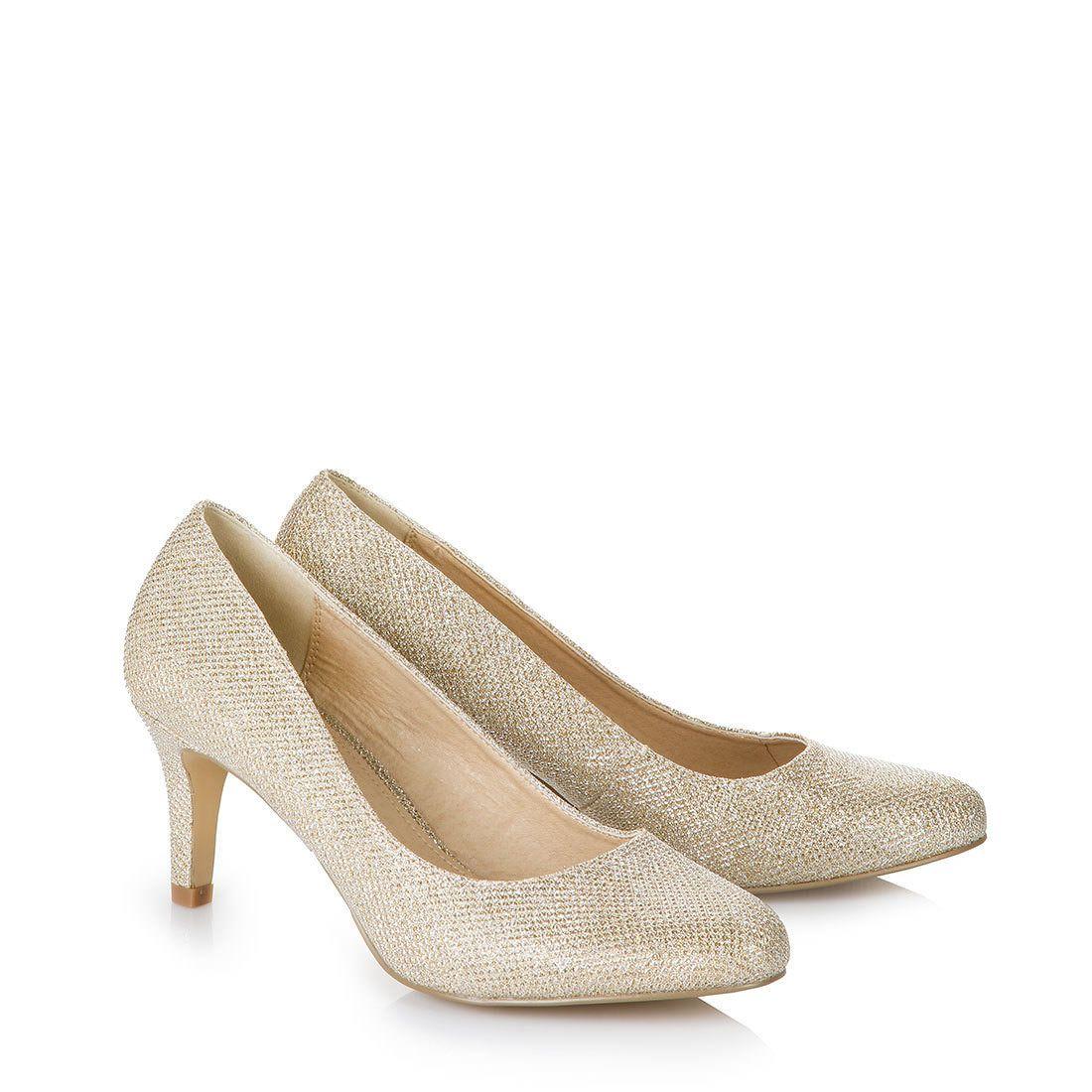 Buffalo Shoes Buffalo Pumps In Gold Schuhe Hochzeit