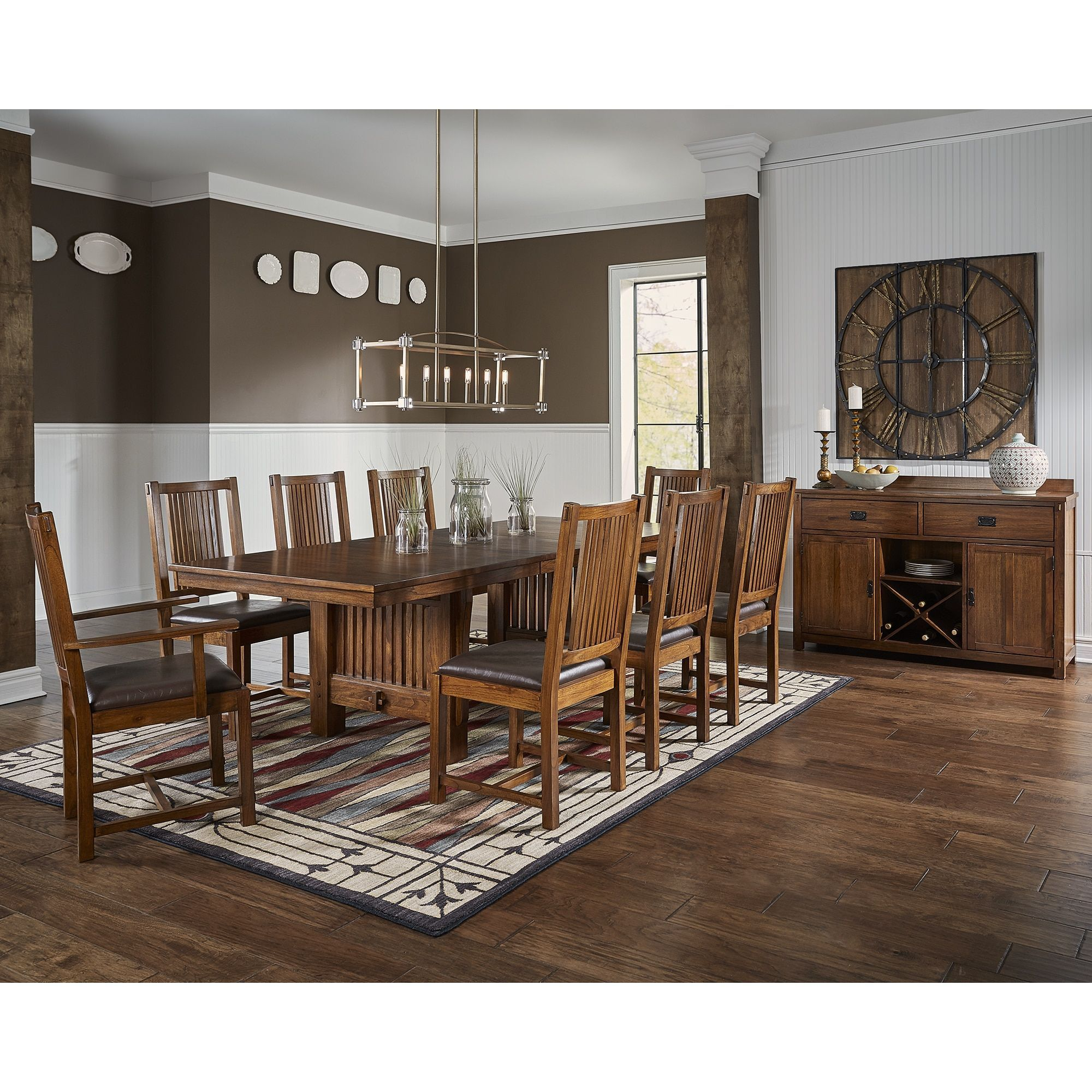 Dining Room Table Size For 10 Simple Gemma 10Piece Solid Wood Dining Set Gemma 10Pc Solid Wood Dining Inspiration Design