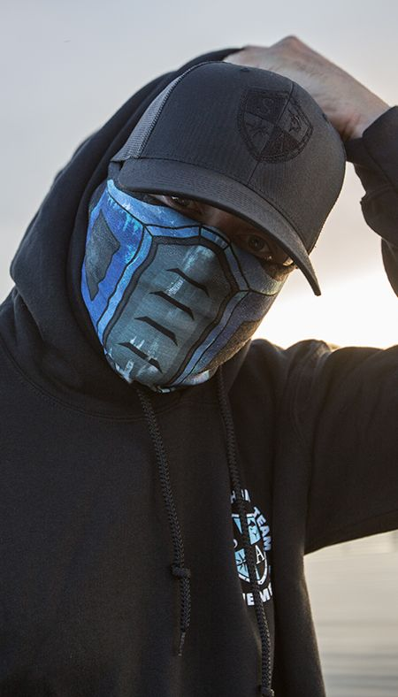 NEW SA CO Salt Armour SA CARBON FIBER Face Shield Sun Mask Balaclava **USA**