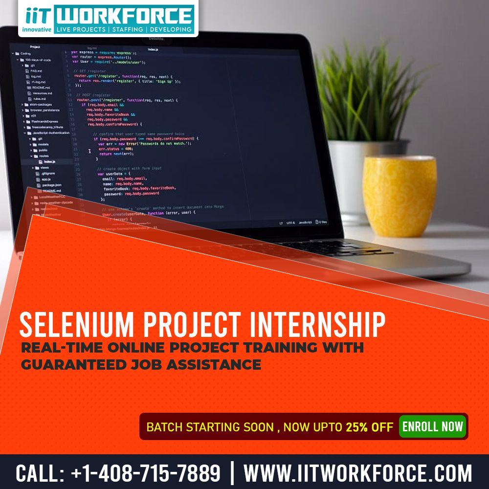 Get selenium online project internship software