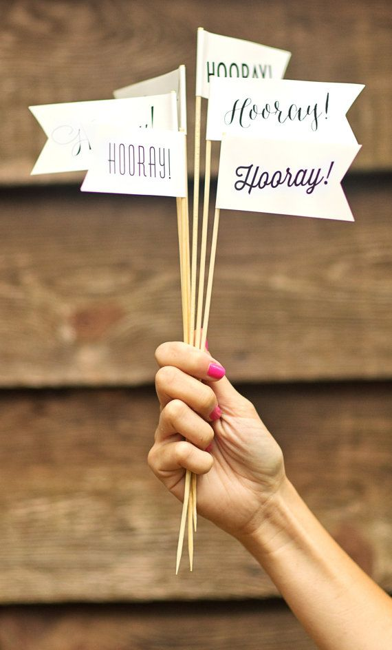 hooray large flags ivory mix of 12 flags ivory and