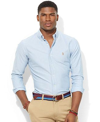 65efbe5aa Polo Ralph Lauren Slim-Fit Oxford Shirt | Jericho | Moda, Moda para ...