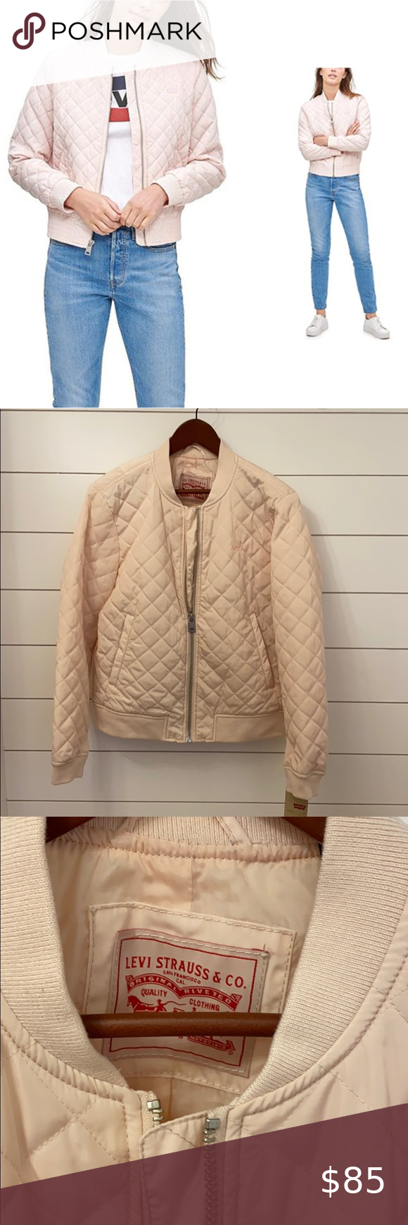 Nwt Levi S Women S Diamond Quilted Bomber Jacket Quilted Bomber Jacket Quilted Bomber Bomber Jacket [ 1740 x 580 Pixel ]