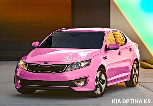 Look It S Hello Kitty A Beautiful Pink Kia Optima With Hello