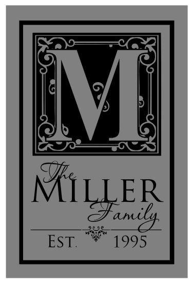 Vinyl On Glass Family Sign Tutorial Name Sign Custom