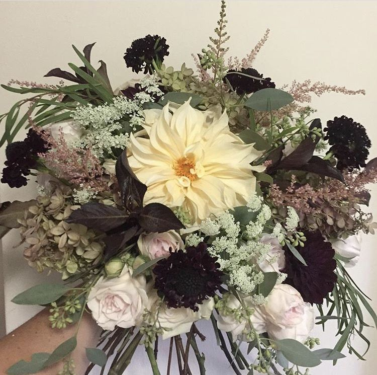 Kitchen Design Centre Lavender Hill: Blush, Ivory, Eggplant, And Green Bouquet By Alicia Jayne