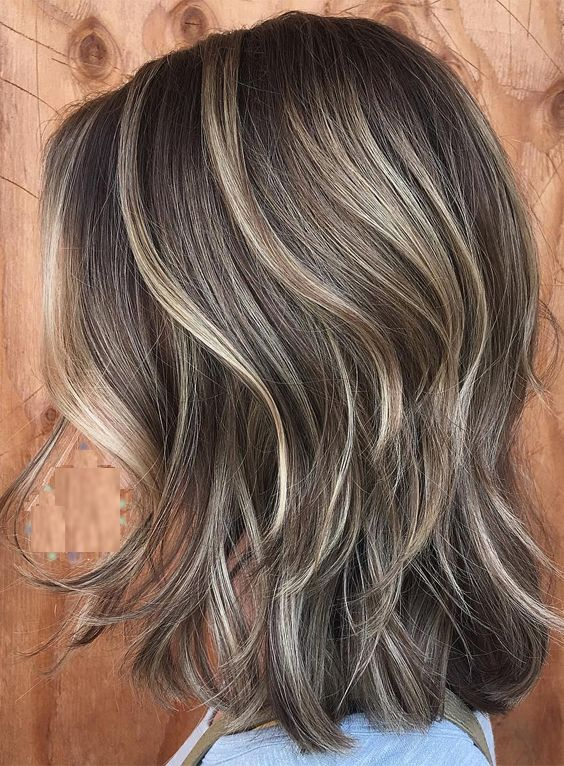 Trendy Medium Shoulder Length Hairstyles 2017 2018 Thin Hair Haircuts Brown Hair With Highlights Subtle Blonde Highlights