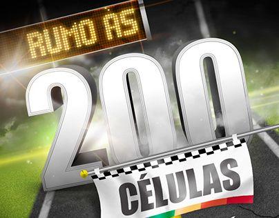 "Check out new work on my @Behance portfolio: ""Rumo às 200 Células | Identidade Visual"" http://on.be.net/1I7q8jS"
