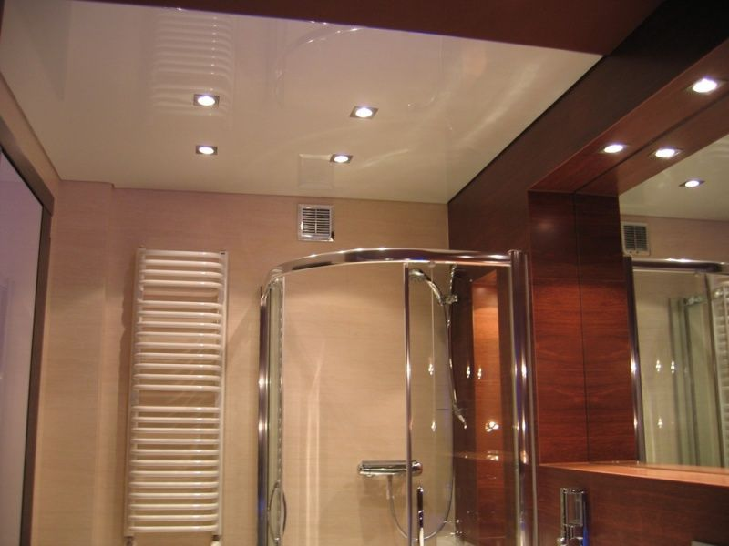 Suspended Ceiling Inside Bathroom