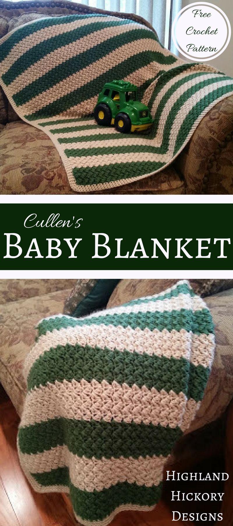 Cullen\'s Baby Blanket - Free Crochet Pattern | Häkeldecke, Das baby ...