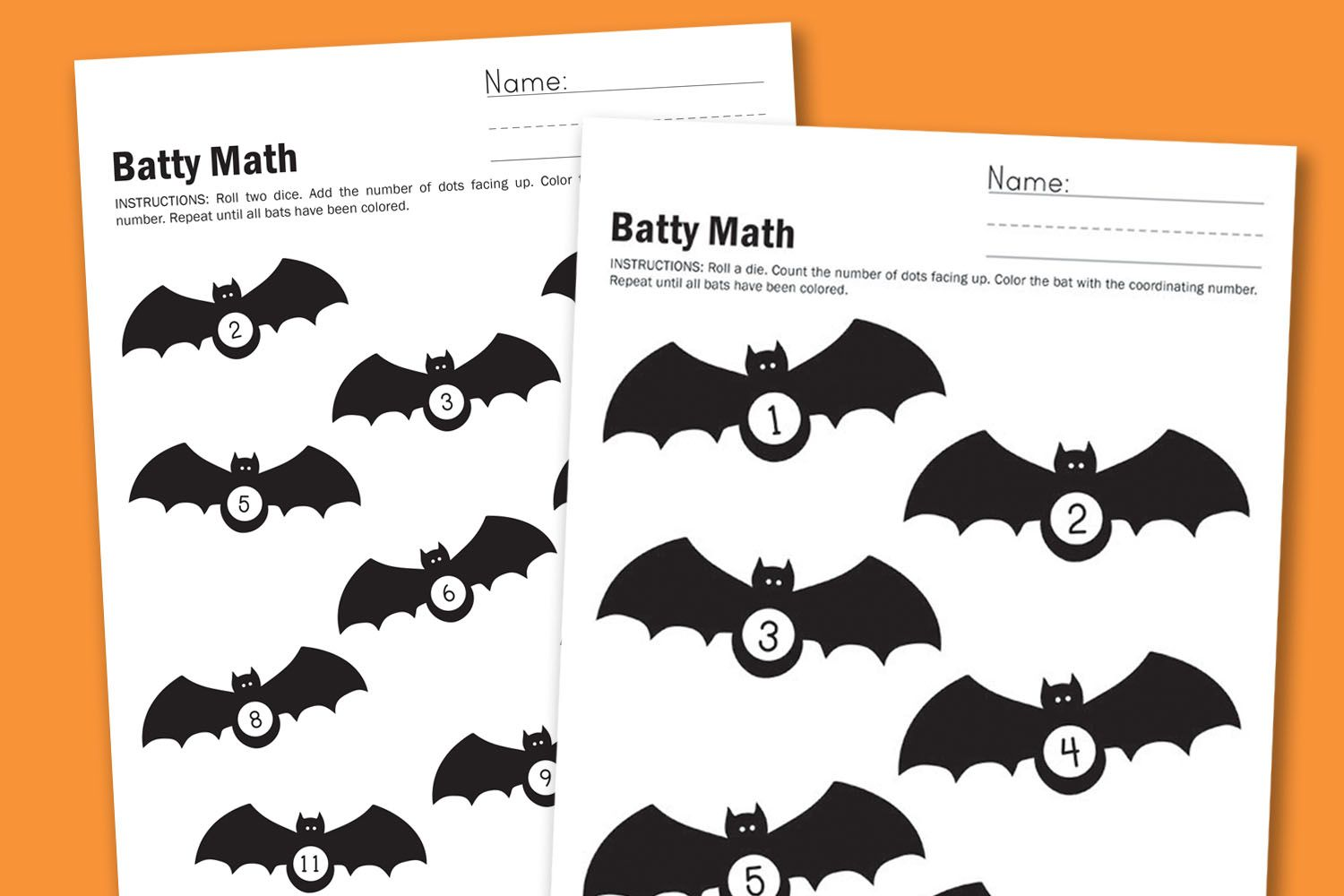 Batty Math Worksheet