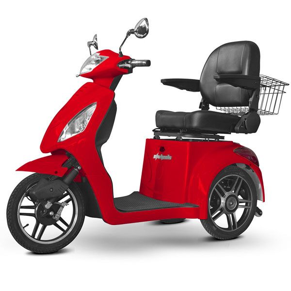E Wheels Ew 36 3 Wheel Electric Senior Mobility Scooter Red Motorized Scooters Maxiaids
