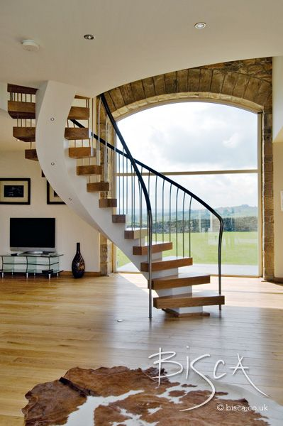 Best Bespoke Helical Stair Design Interior Staircase 400 x 300