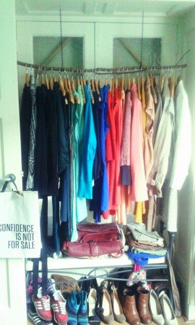 My rainbow closet
