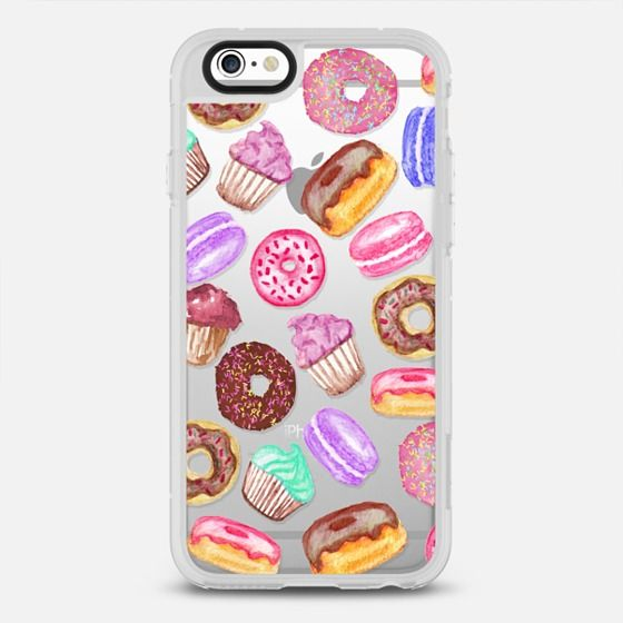 Yummy Watercolor Donuts Cookies Cupcakes and Muffin Dessert- Transparent - New Standard Case