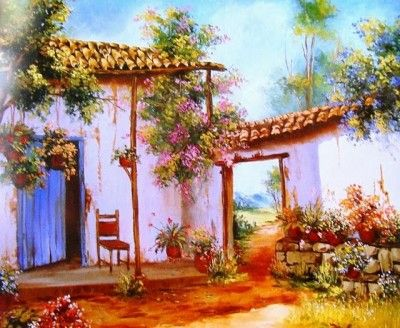 Pinturas al oleo modernas para sala acuarelas pinterest for Pinturas para salas modernas