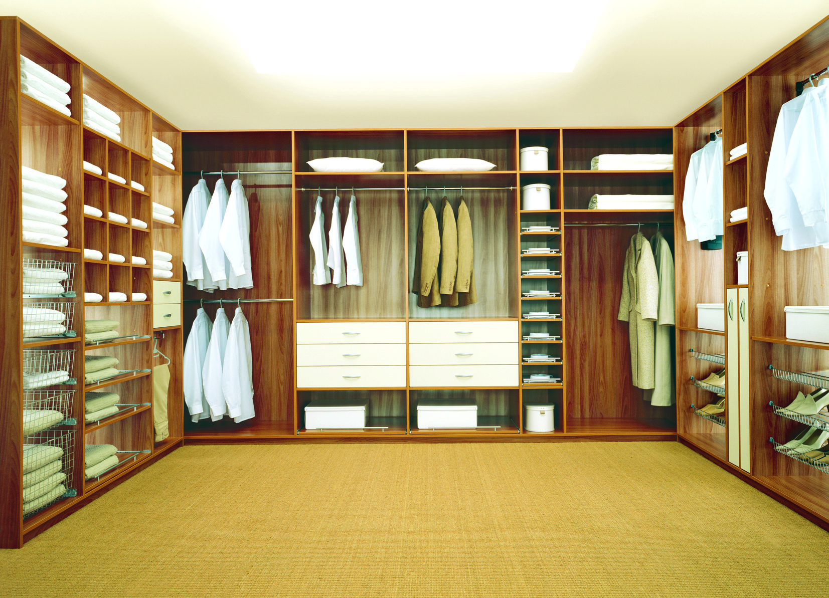 Amazing Walk In Closets  Cool Towel Cabinets In Amusing Wooden Mesmerizing Bedroom Walk In Closet Designs Decorating Design
